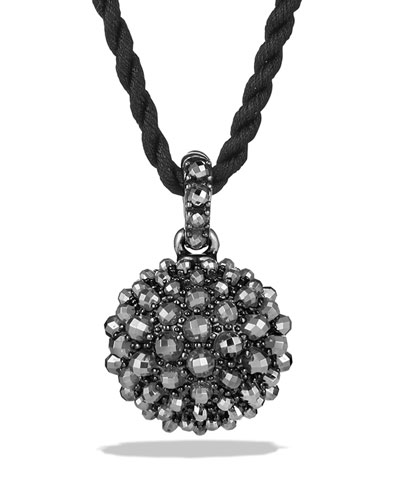 20mm Osetra Faceted Hematine Pendant Necklace, 42