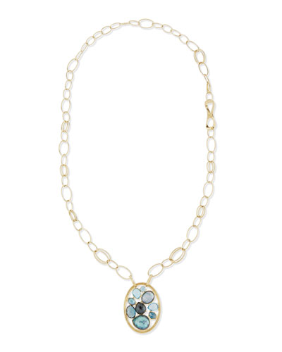 18K Rock Candy Cluster Pendant Necklace in Midnight Rain