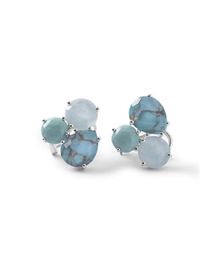 861914432 Ippolita Silver Rock Candy Cluster Stud Earrings