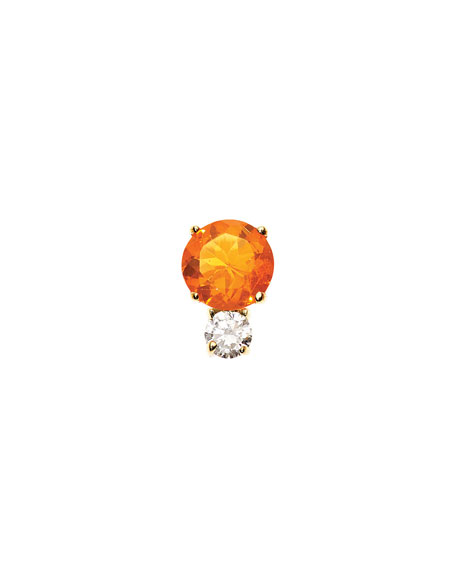 Prive Fire Opal & Diamond Single Stud Earring