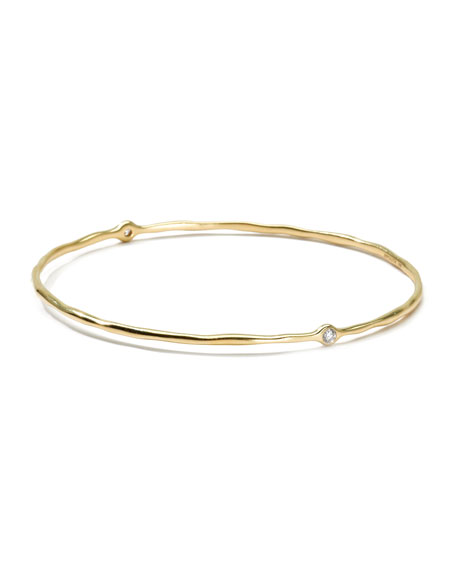 Ippolita 18K Gold Stardust Superstar 2-Diamond Bangle