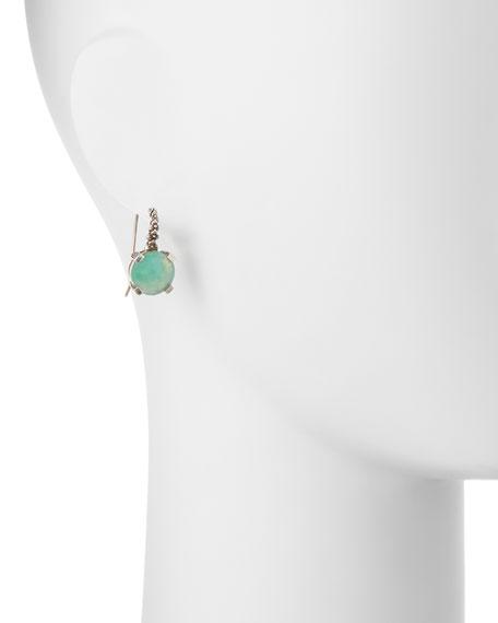 Sterling Silver Quartz Triplet Drop Earrings