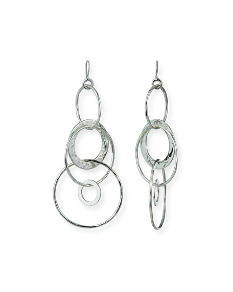 Image 1 of 2: Ippolita 925 Classico Mixed Large Hammered Link Jet Set Earrings