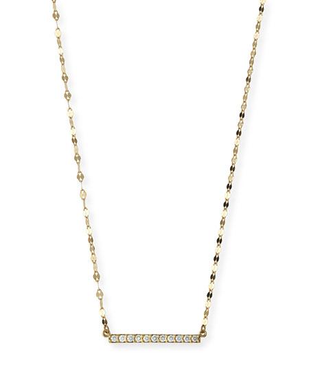 LANA Mirage Blake Diamond Bar Necklace