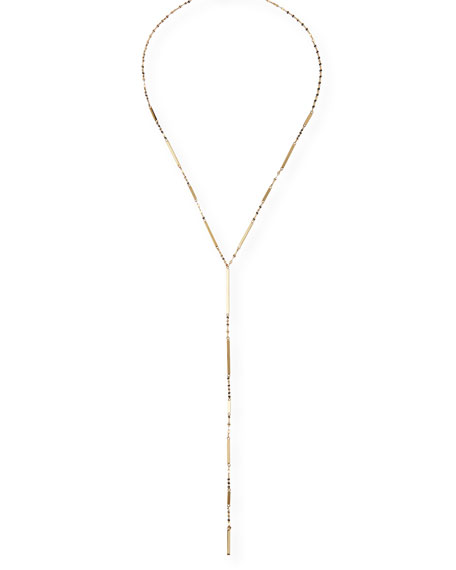 14K Gold Mega Dash Lariat Necklace