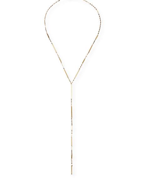 LANA 14K Gold Mega Dash Lariat Necklace