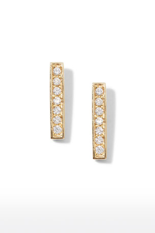 Sydney Evan Small 14k Gold Diamond Bar Single Stud Earring $265.00