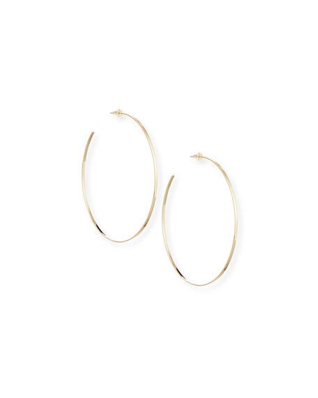 14k Gold Mega Lana Hoop Earrings
