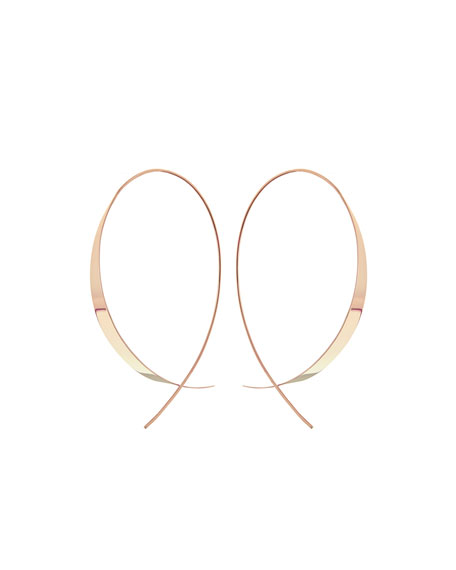 LANA Gloss 14K Upside Down Hoop Earrings