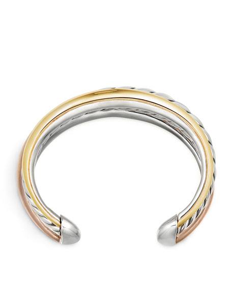Pure Form Three-Row Bangle Bracelet