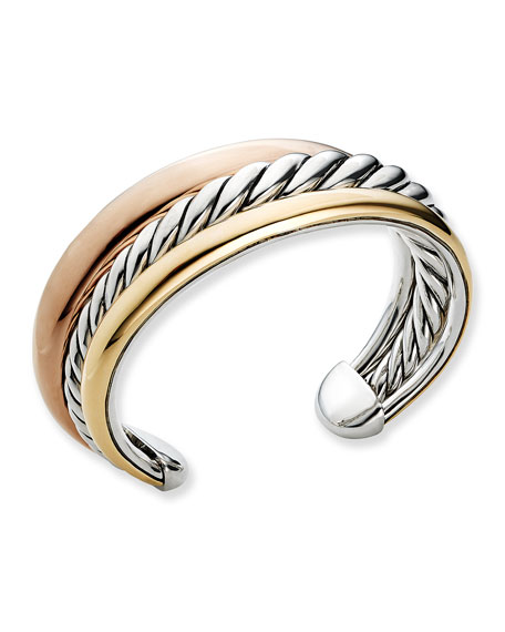 Pure Form Three-Row Bangle Bracelet