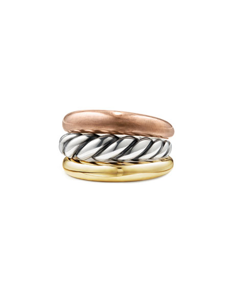 Pure Form Three-Row Band Ring