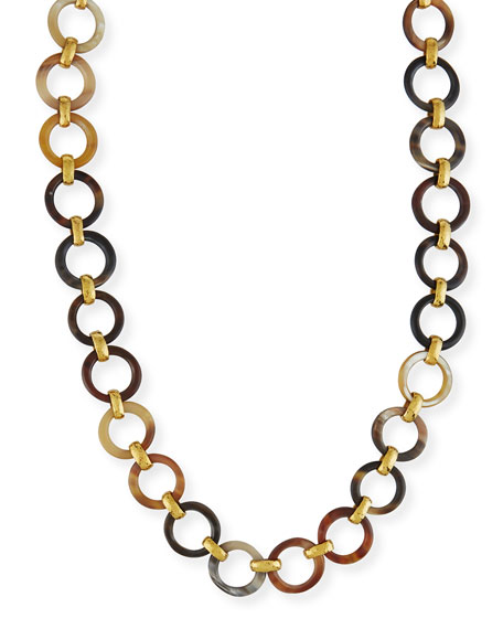 Ashley Pittman Mtego Mixed Horn Link Necklace