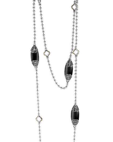 LAGOS Caviar Color Station Necklace