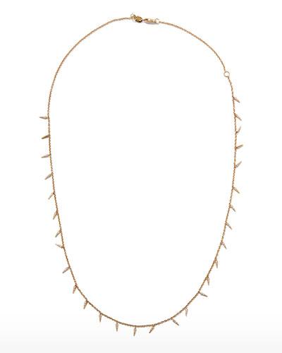 Pavé Diamond Fringe Drop Necklace