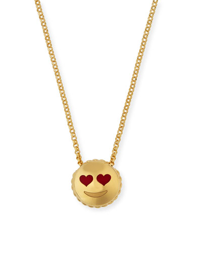 Tiny Treasures Love Emoji Pendant Necklace