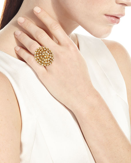 Crystal Bezel Dome Ring