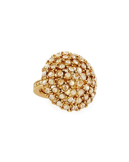 Oscar de la Renta Crystal Bezel Dome Ring