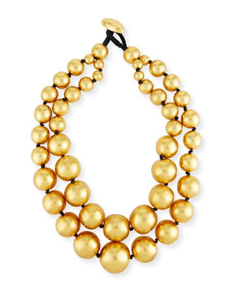 Viktoria Hayman Beaded Double-Strand Necklace