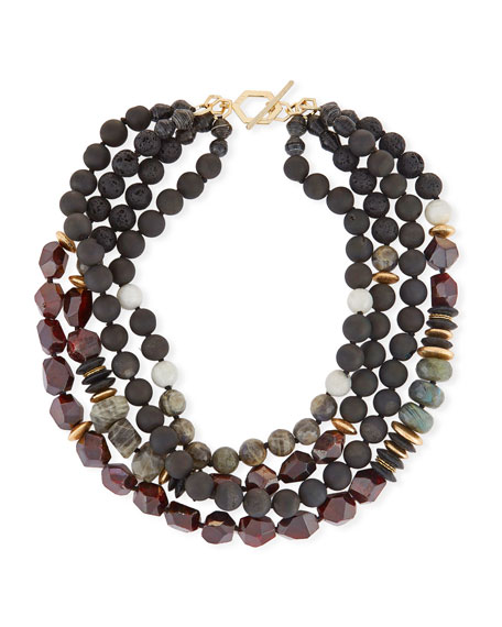 Akola Four-Strand Beaded Necklace