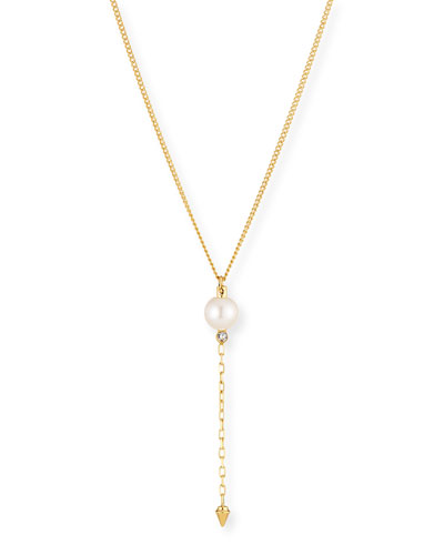 Emi Pearl Lariat Necklace
