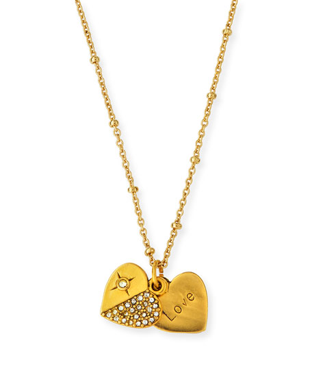 Sequin Heart Talisman Necklace