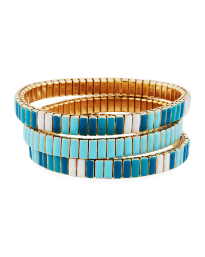 Watch Out Stretch Bracelet, Turquoise Color