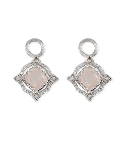 Jude Frances Lisse 18K Delicate Cushion Morganite Earring