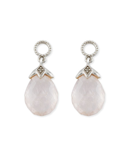 Jude Frances Lisse Morganite Briolette Earring Charms with