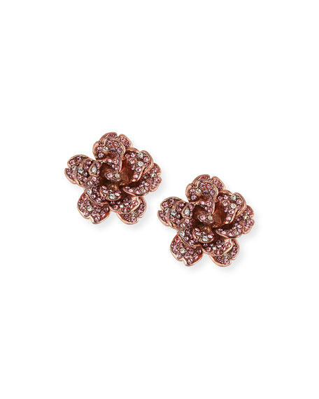 Jose & Maria Barrera Crystal Rose Clip-On Earrings CR99LMlCpR