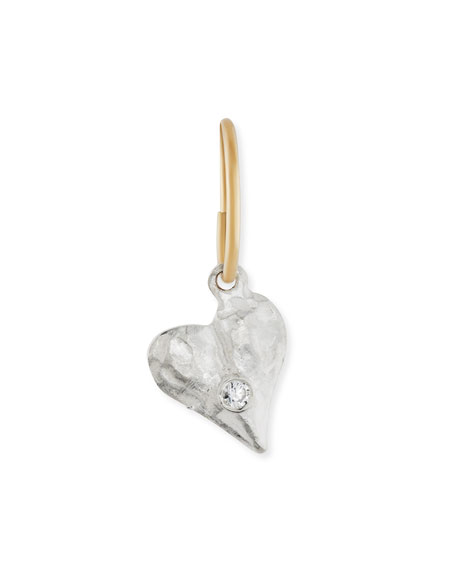 Apollo Heart Single Earring with Stone