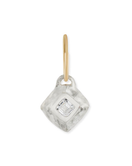 Tiny Square Roma Single Earring