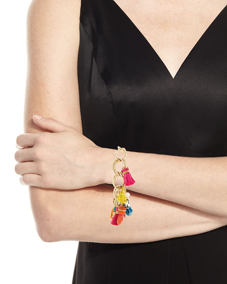 "Image 3 of 4: Tassel Statement Chain Bracelet, 7.25""L"