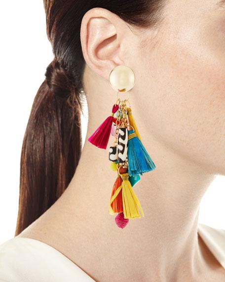 """Tassel Statement Earrings, 3""""L"""