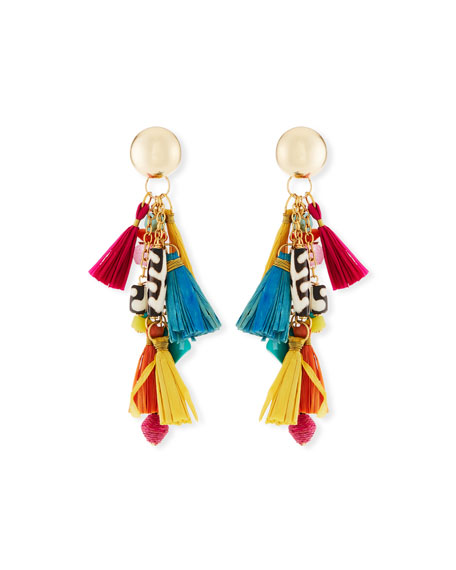 Akola Tassel Statement Earrings, 3