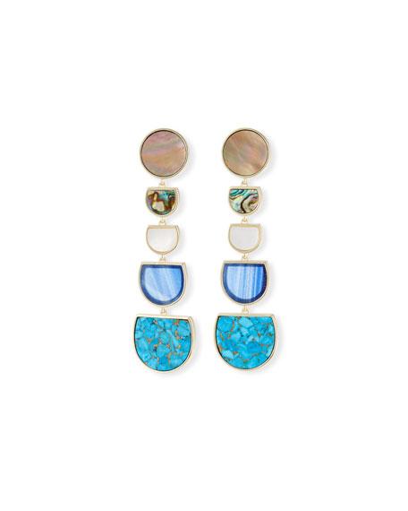 Kendra Scott Jackman Stone Tiered Drop Clip-On Earrings