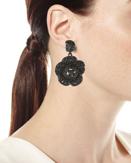 Gardenia Pave Swarovski Crystal Earrings