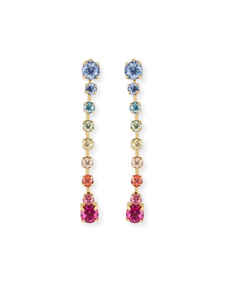 Lulu Frost Rainbow Linear Drop Earrings