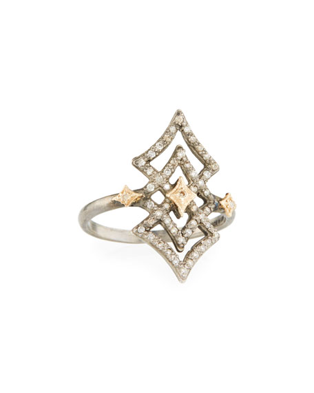 Armenta New World Open Diamond Crivelli Ring, Size 6.5