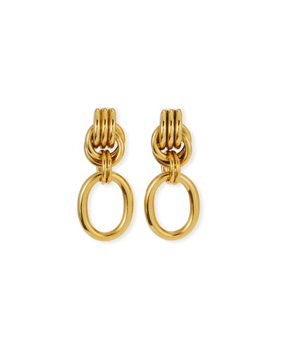 Knotted Clip-On Drop Earrings