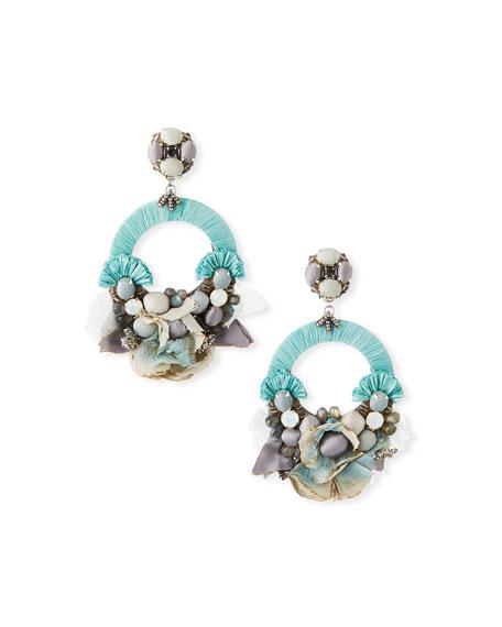Ranjana Khan Luna Hoop-Drop Clip Earrings