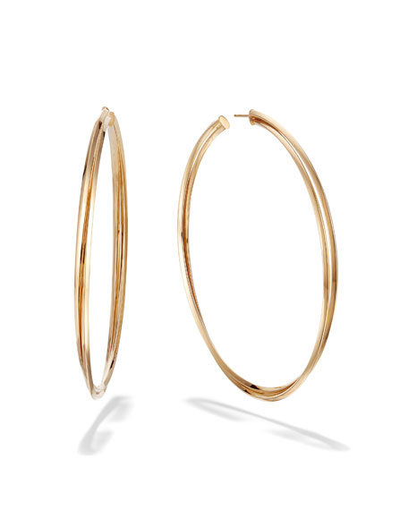 LANA 14k Royale Twist Hoop Earrings, 80mm