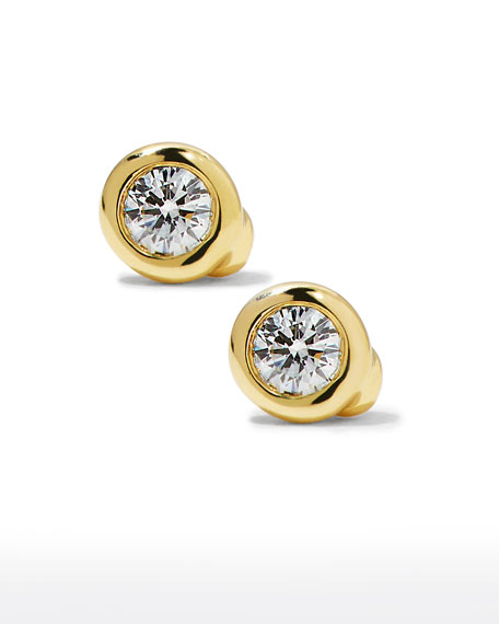 Roberto Coin 18k Diamond Stud Earrings