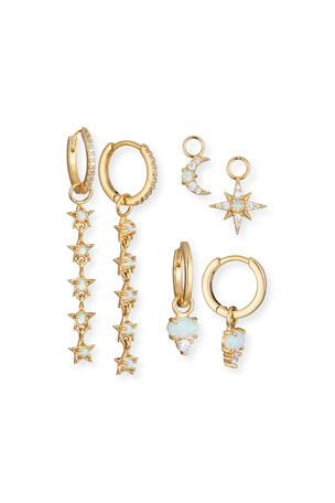 Tai Build-Your-Own Celestial Huggie Hoop Earring Set