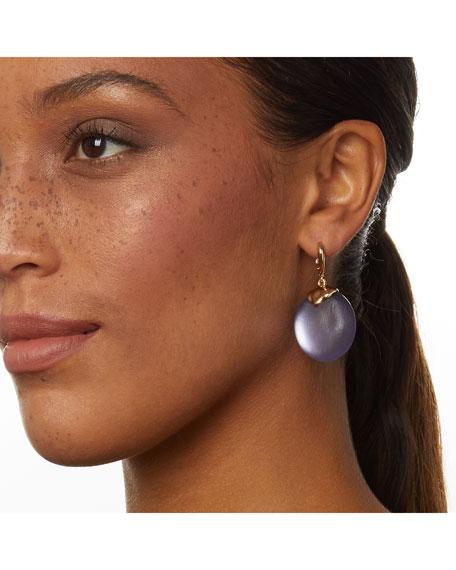 Alexis Bittar Crumpled Metal Circle Drop Earrings