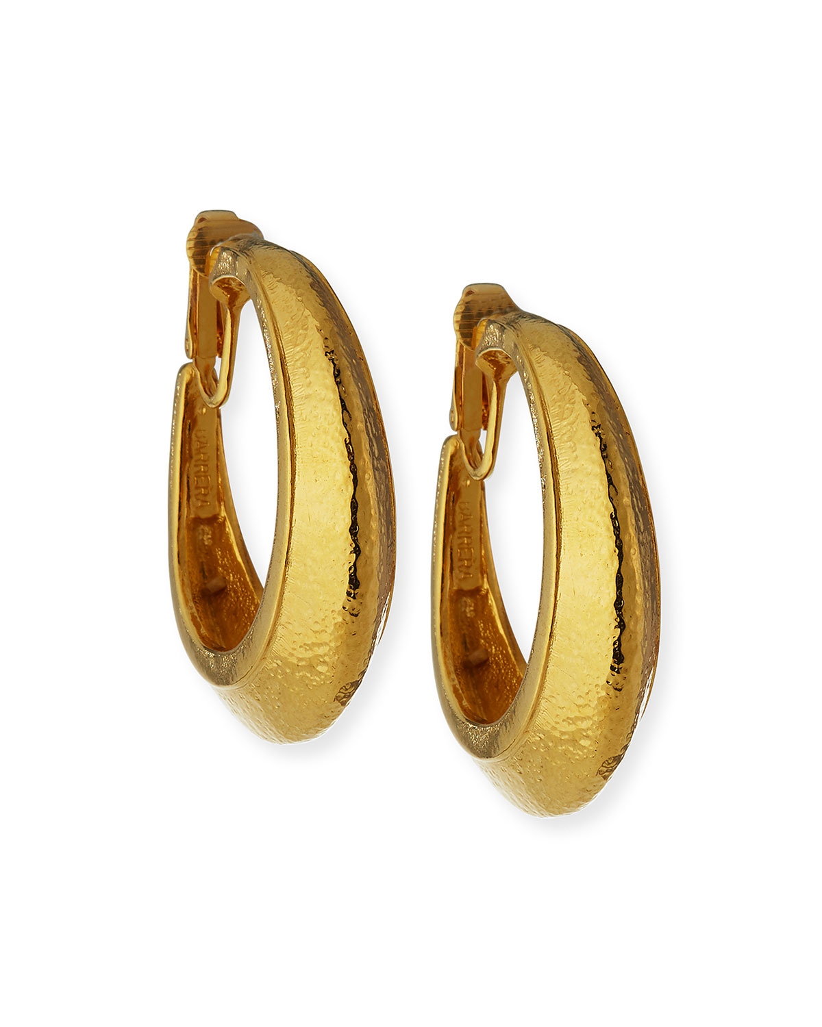 Jose & Maria Barrera Hoop Clip Earrings