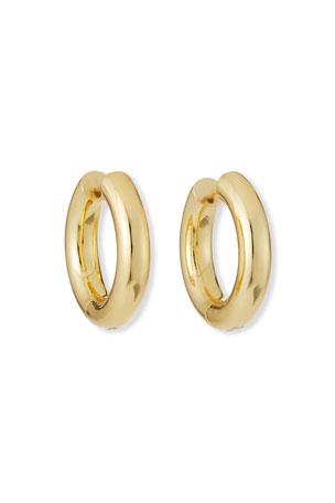 NEST Jewelry Golden Huggie Hoop Earrings
