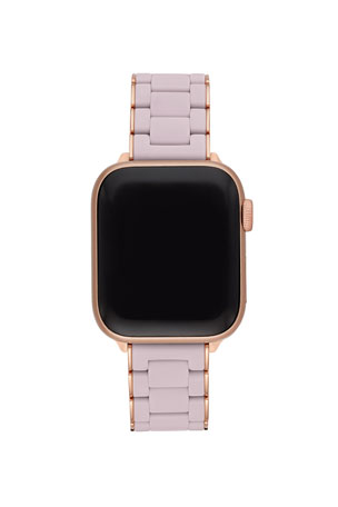 MICHELE 38/40mm Stainless Silicone-Wrapped Bracelet Band for Apple Watch