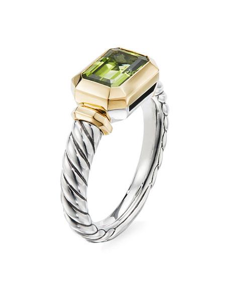 David Yurman Novella Stone Ring w/ 18k Gold, Size 5-8