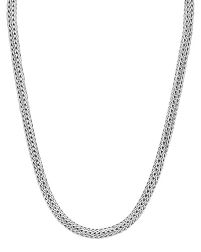 """Small Oval Woven Chain Necklace, 18""""L"""